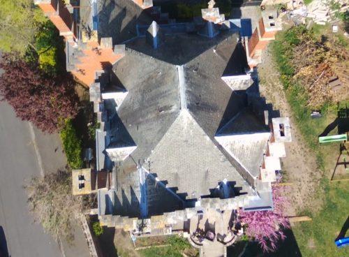 Survol par drone à défaut d'un accès aisé